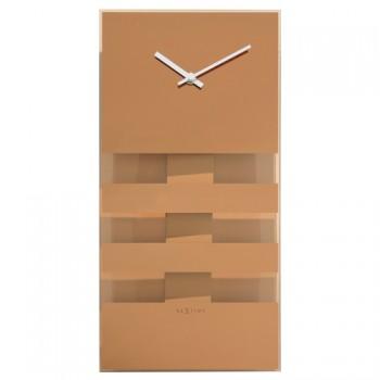 Kyvadlové hodiny NeXtime Bold Stripes Copper
