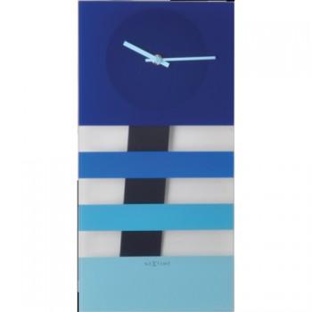 Kyvadlové hodiny NeXtime Bold Stripes Blue