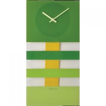 Kyvadlové hodiny NeXtime Bold Stripes Green