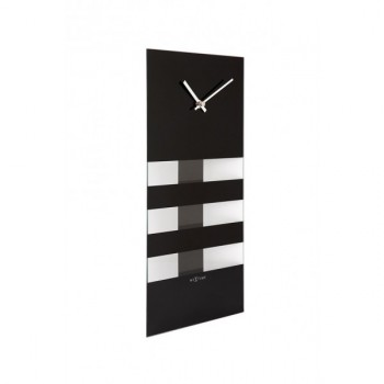Kyvadlové hodiny NeXtime Bold Stripes Dark