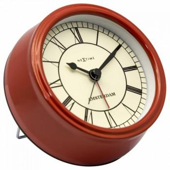 Stolní hodiny NeXtime Amsterdam Mini Red