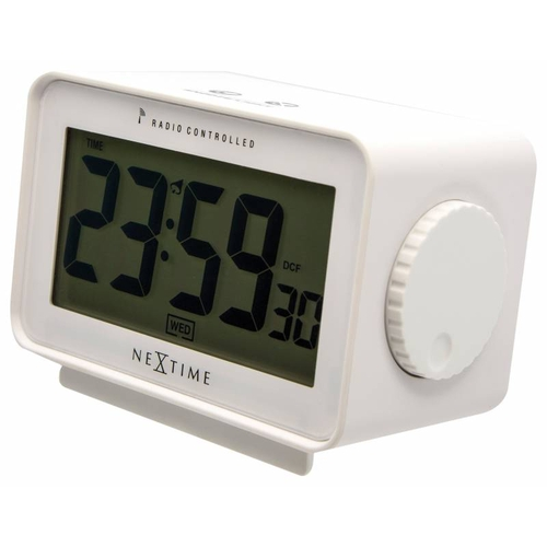NeXtime Stolní hodiny NeXtime Easy Alarm White Radio Controlled