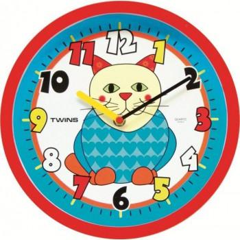 Dětské hodiny Twins 10410 Kočka