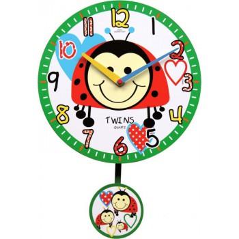 Dětské hodiny Twins 10411 Brouček